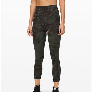 Lulu align pants gator green camo - new